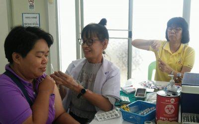 การรับวัคซีนป้องกันไข้หวัดใหญ่ ปี 2562