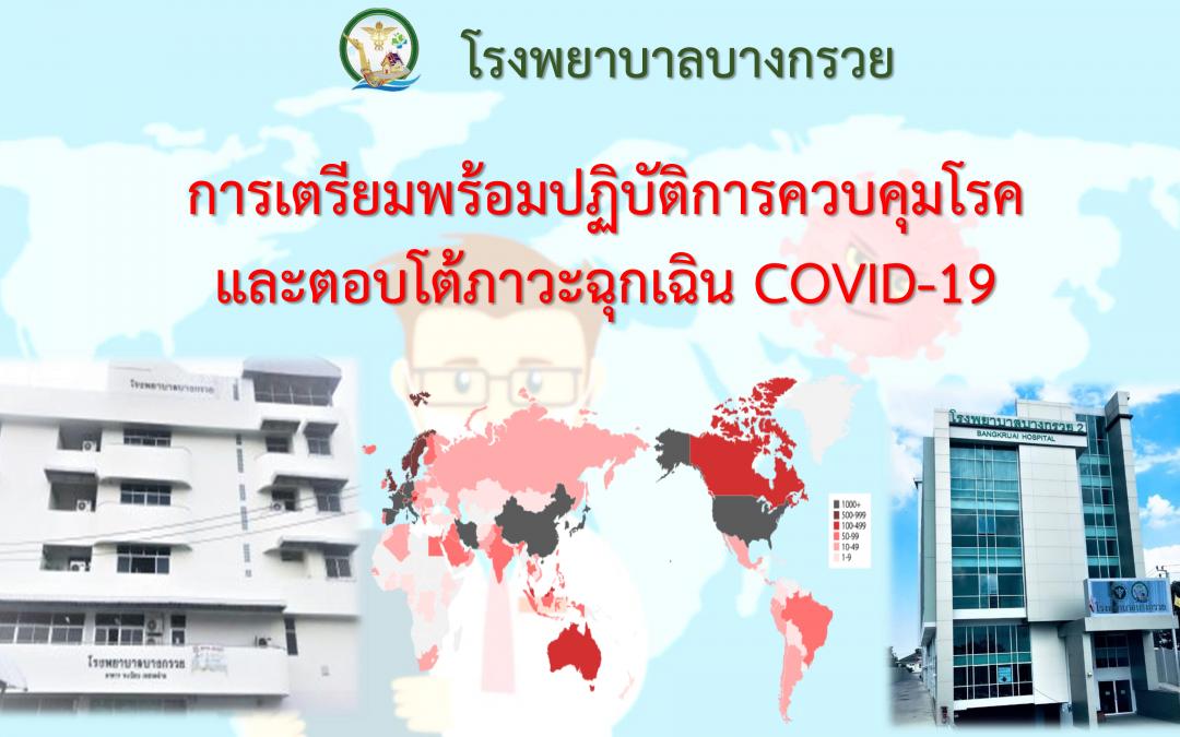 รพ.บก เตรียมพร้อมปฏิบัติการควบคุมโรคและตอบโต้ภาวะฉุกเฉิน COVID-19