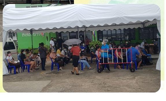 28 เมษายน 2564 ขอขอบคุณ คุณวิลาวรรณ รุ่งวัฒนโสภณ และคณะ ช่วยสนับสนุนจัดเต็นท์ 1 หลัง มาติดตั้งที่รพ.บางกรวย เพื่อให้บริการต่อประชาชนที่มารับบริการ ตั้งแต่ 29 เม.ย.64 ถึง 30 มิ.ย.64 โรงพยาบาลบางกรวยขอขอบคุณเป็นอย่างสูง มา ณ.โอกาสนี้